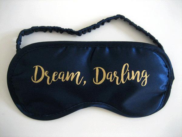 schlafmasken dream darling mit metallic-druck