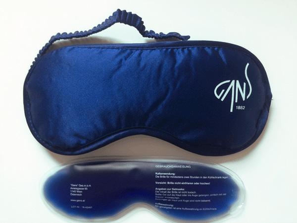 schlafmaske gans mit coolpack
