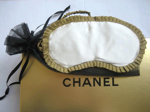 schlafmasken chanel aus seide